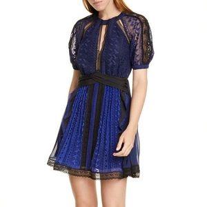 🔴 Self-Portrait Geometric Lace Dress